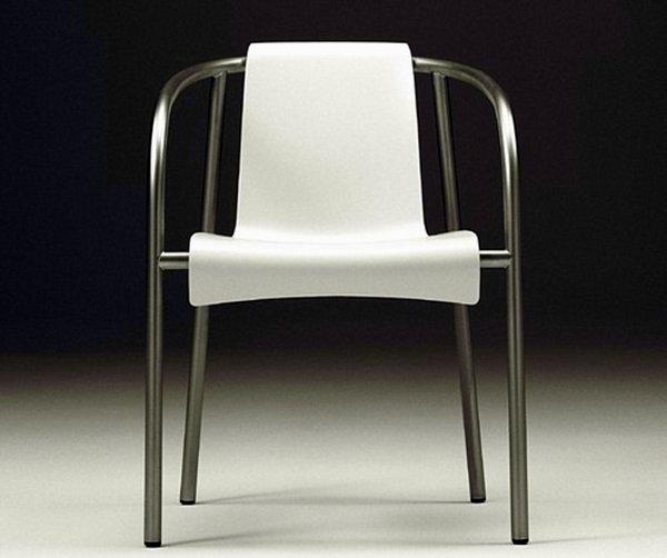 Стильный кухонный стул из нержавеющей стали и пластика