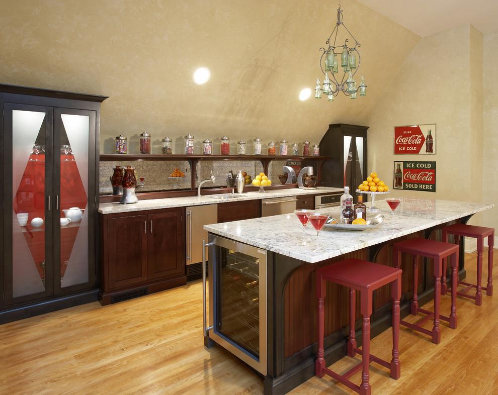 Компактный винный холодильник в дизайне современной кухни отLilija Gelazis AIA