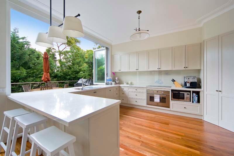 Дизайн террасы с кухней