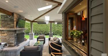 Оригинальный дизайн интерьера кухни с открытой террасой от Von Fitz