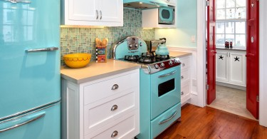 Дизайн интерьера кухни в ретро-стиле