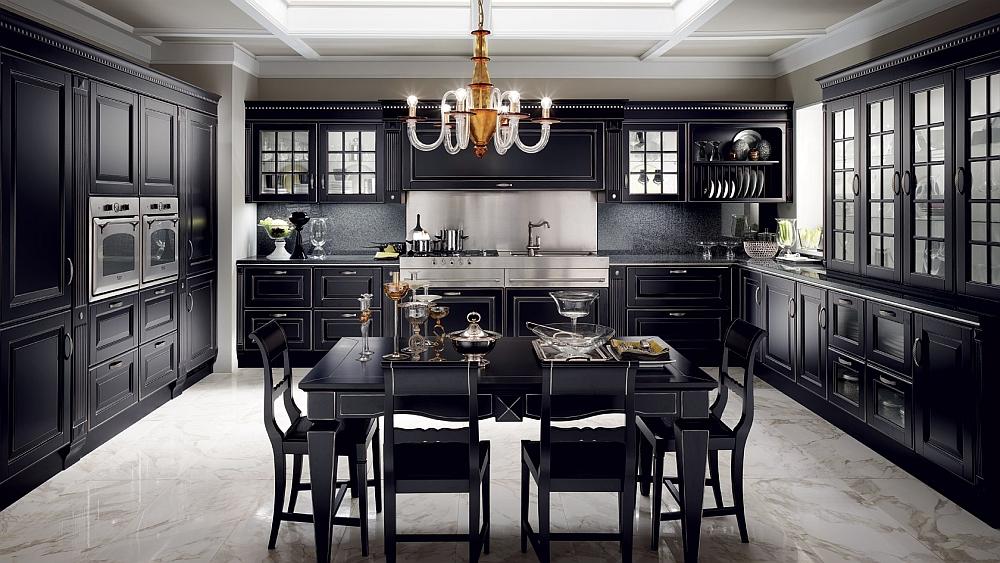 Классический дизайн интерьера кухни Baltimora от Scavolini