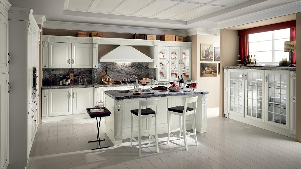 Классический дизайн интерьера кухни Belvedere от Scavolini