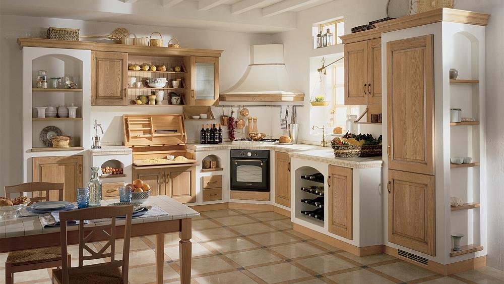 Дизайн интерьера классической кухни Belvedere от Scavolini