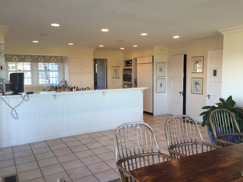Классическая кухня - вид стен до реконструкции