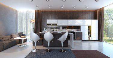Контрастная кухня в вашем доме: оригинальные решения