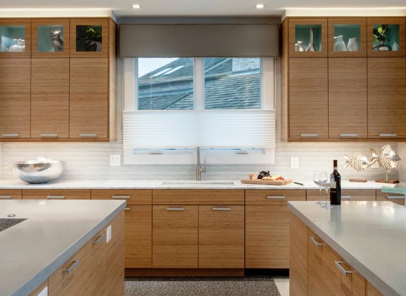 Интерьер кухни из бамбука