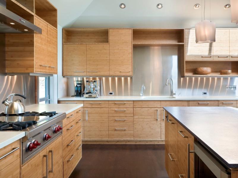 Дизайн кухни из бамбука