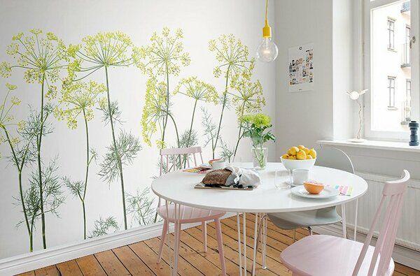 Светлые Фотообои растения