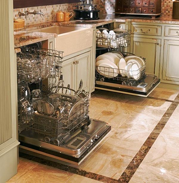 Встроенные посудомоечные машины в интерьере кухни