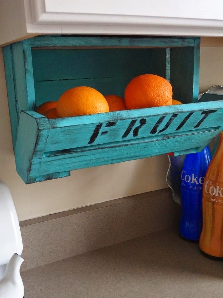 Винтажный деревянный лоток для фруктов