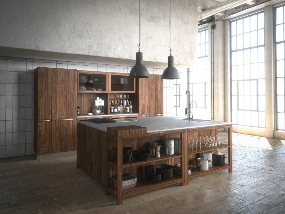 Кухни из дерева в стиле модерн: мебель из массива дуба
