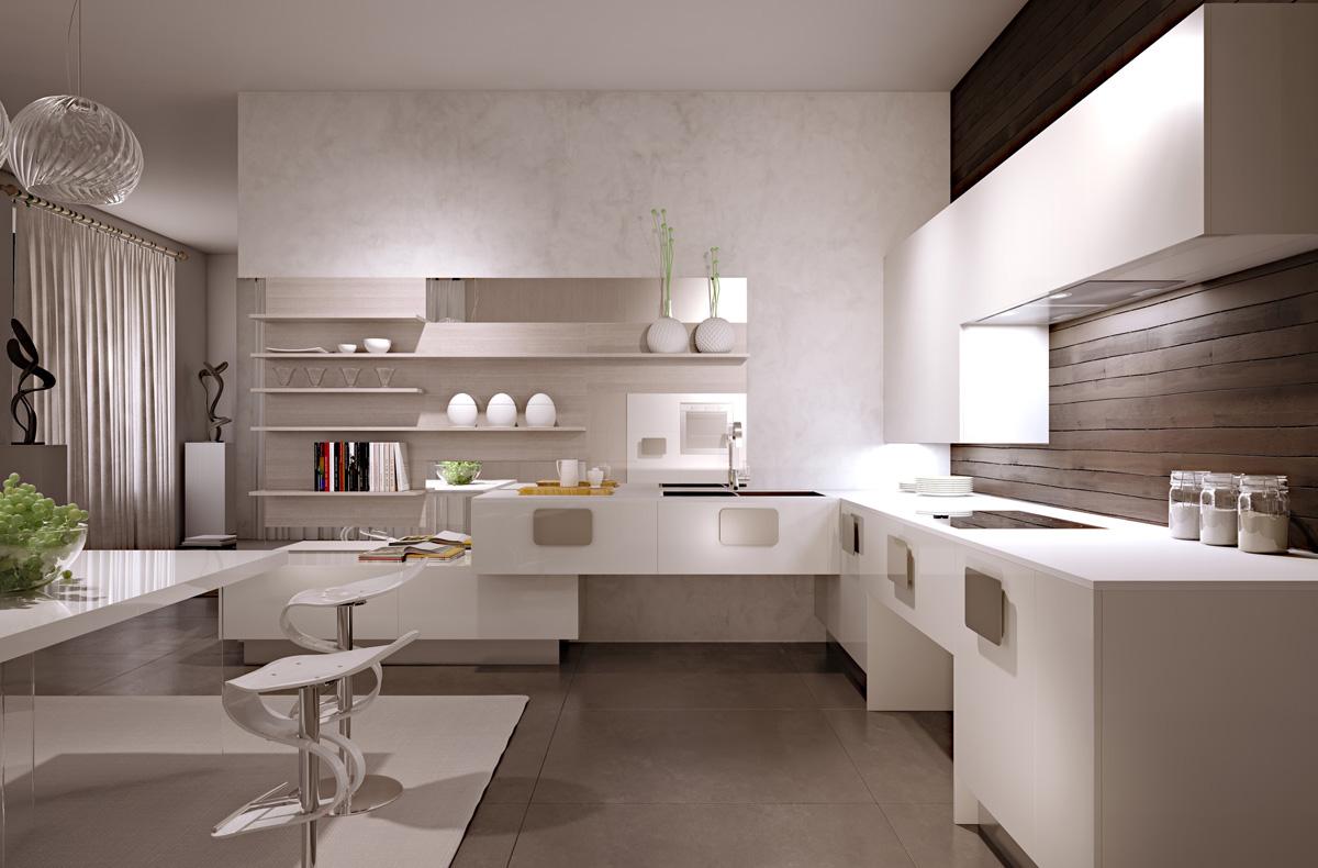 Роскошный дизайн кухни scic в бежевых оттенках