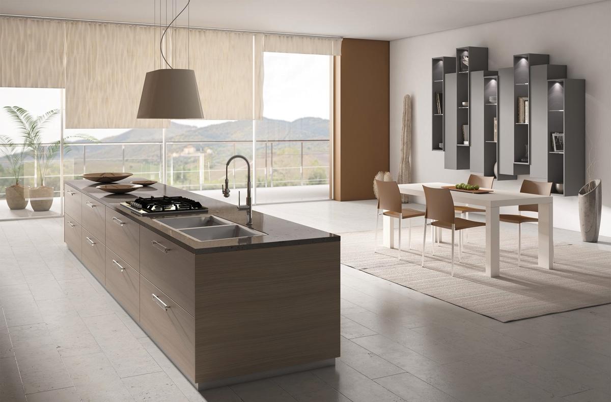 Бело-жёлтый дизайн кухни scic в интерьере