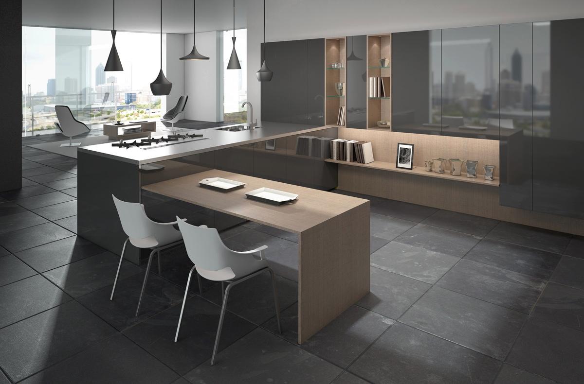 Необычные барные стулья scic в интерьере кухни