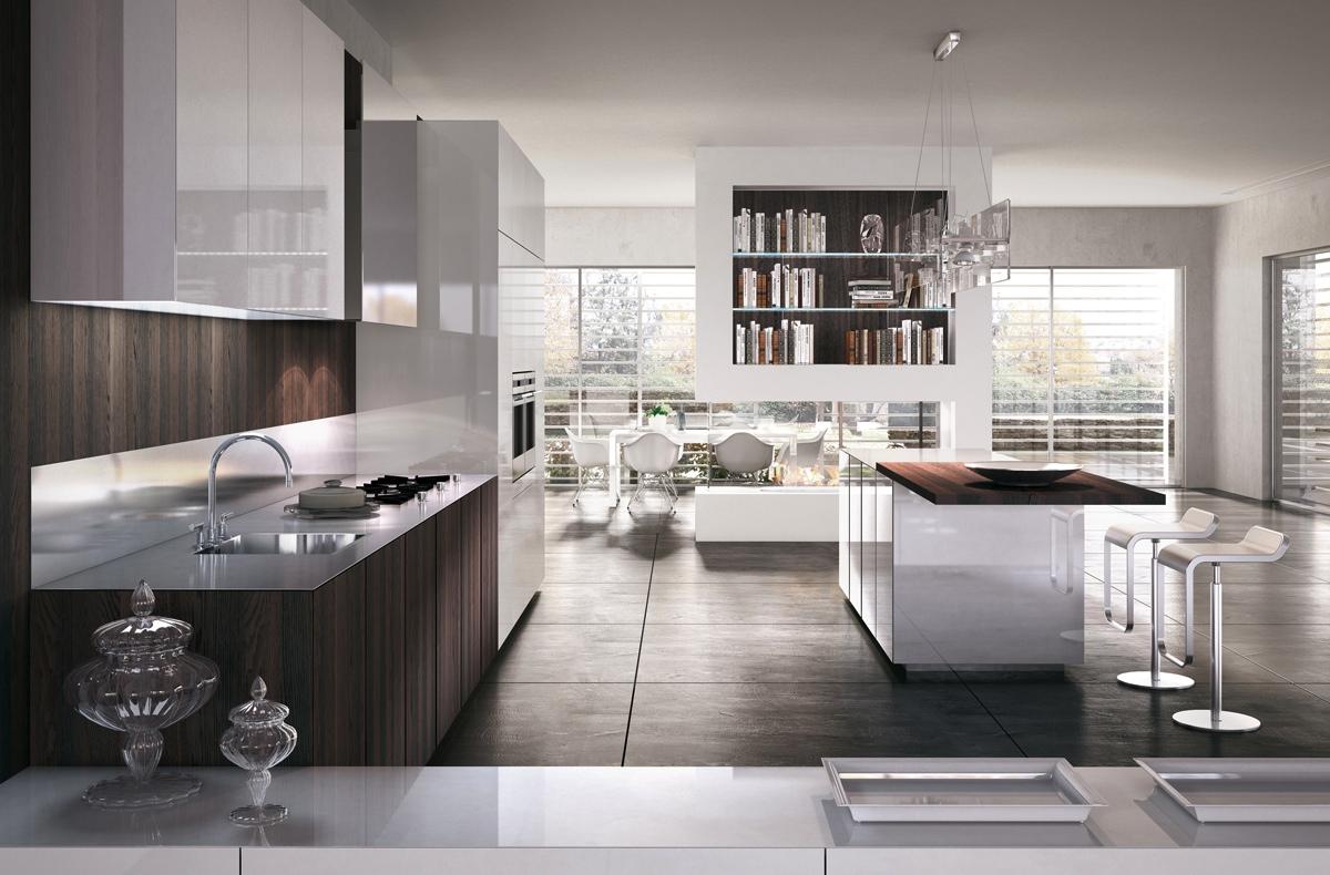 Роскошный дизайн кухни scic со встроенным духовым шкафом