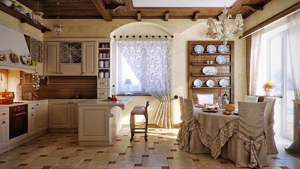 Кухни в стиле кантри - Фото 1