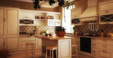 Уютные кухни в стиле кантри