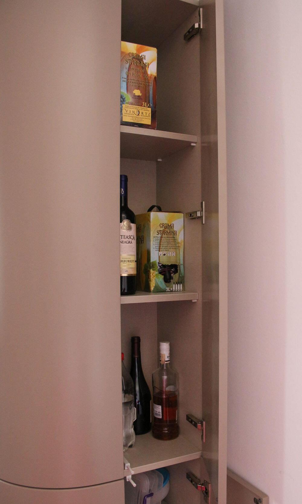 На кухне нашлось место для мини-бара