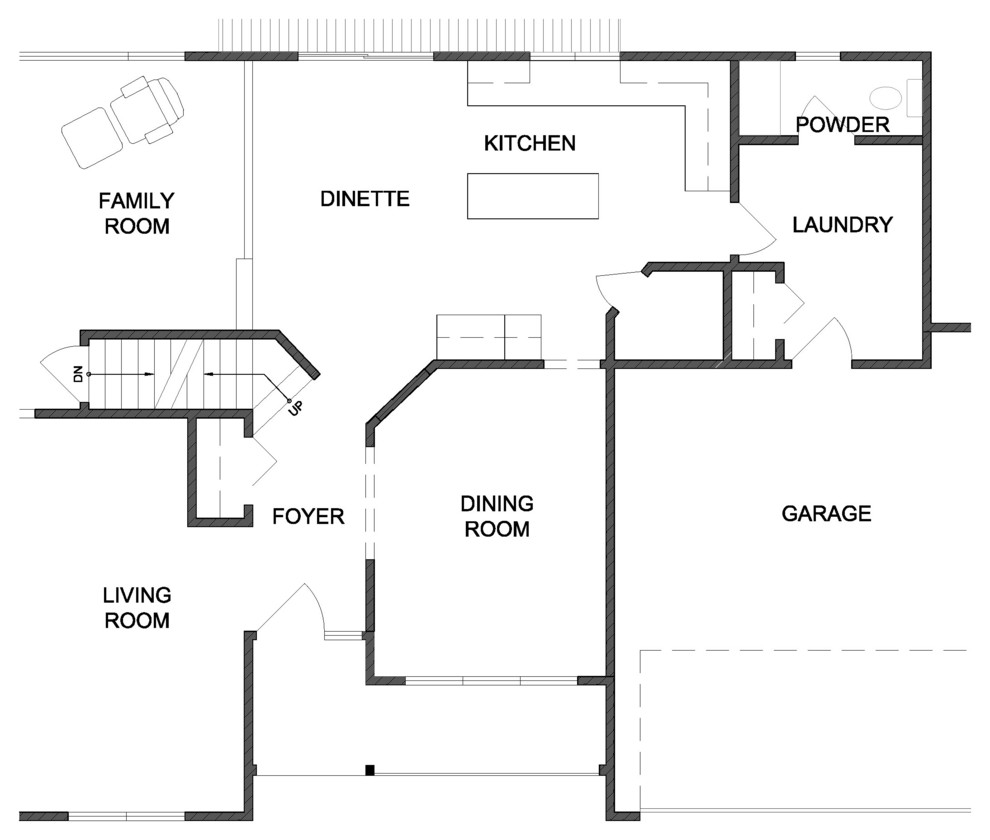 План интерьера кухни - Фото 1