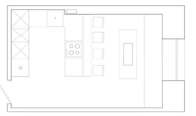 План-схема организации пространства кухни