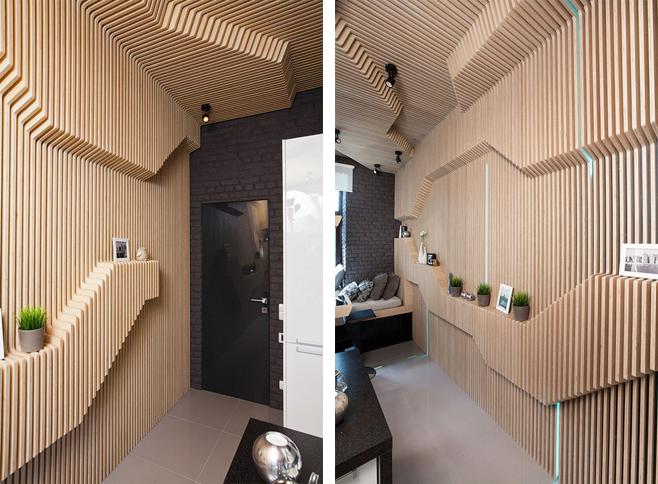 Фотоколлаж: деревянные настенные панели