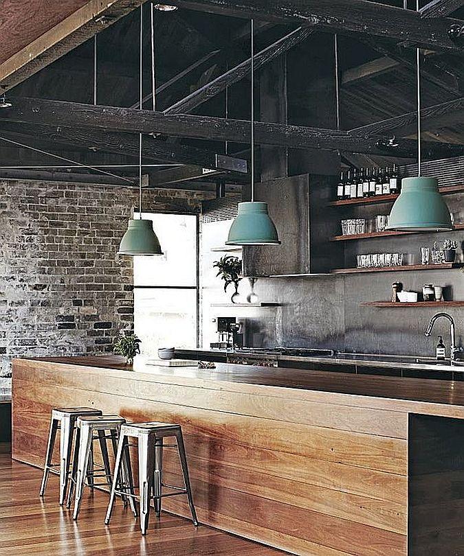 Кухня в индустриальном стиле - Фото 17