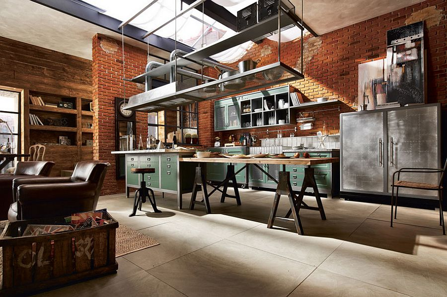 Кухня в индустриальном стиле - Фото 19