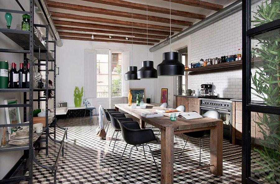 Кухня в индустриальном стиле - Фото 20