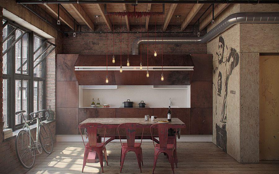 Кухня в индустриальном стиле - Фото 24