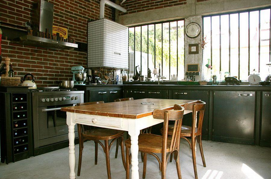 Кухня в индустриальном стиле - Фото 27