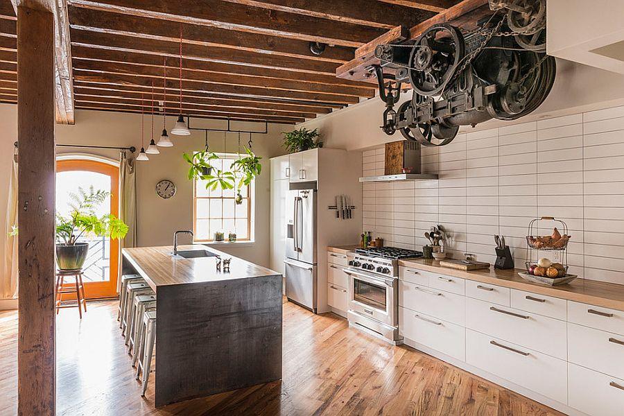 Кухня в индустриальном стиле - Фото 28