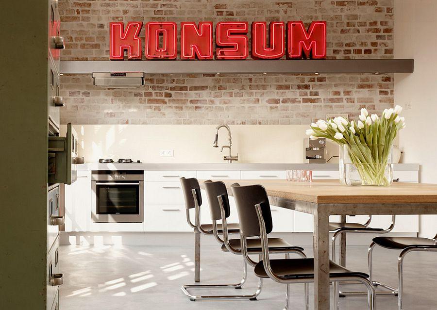 Кухня в индустриальном стиле - Фото 30