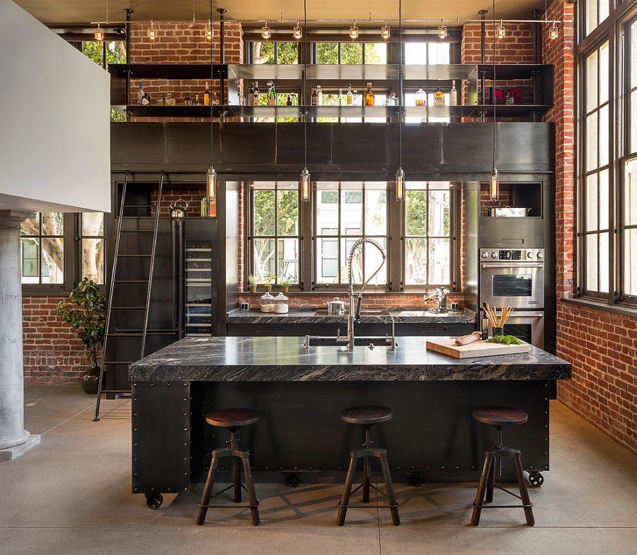 Кухня в индустриальном стиле - Фото 31