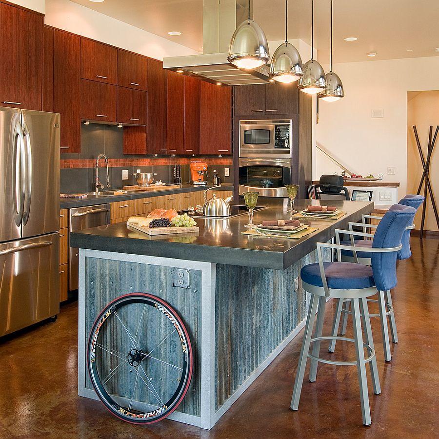 Кухня в индустриальном стиле - Фото 32