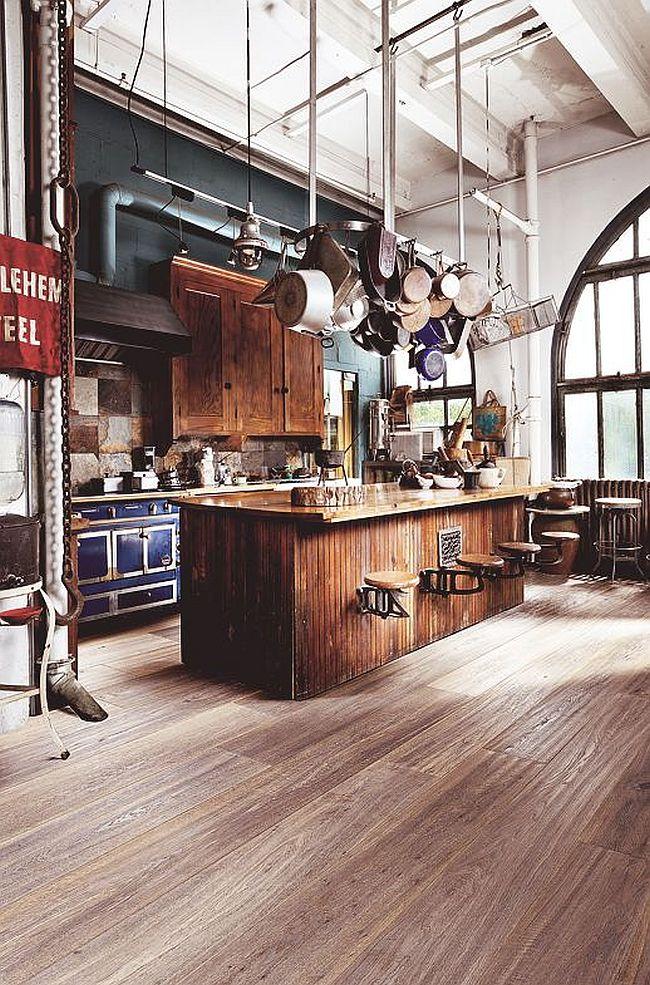 Кухня в индустриальном стиле - Фото 35