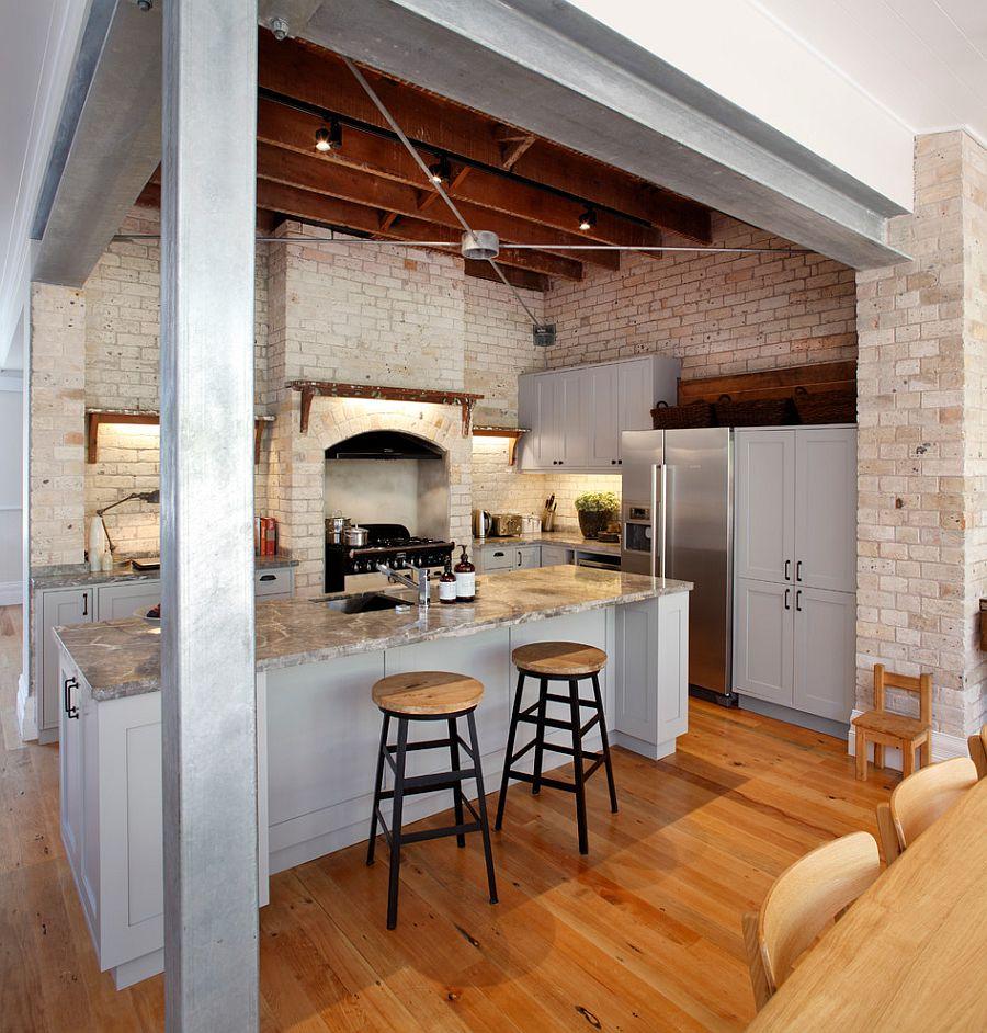 Кухня в индустриальном стиле - Фото 37