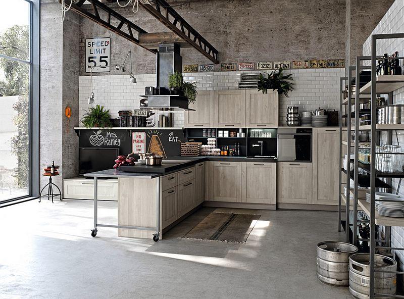 Кухня в индустриальном стиле - Фото 39