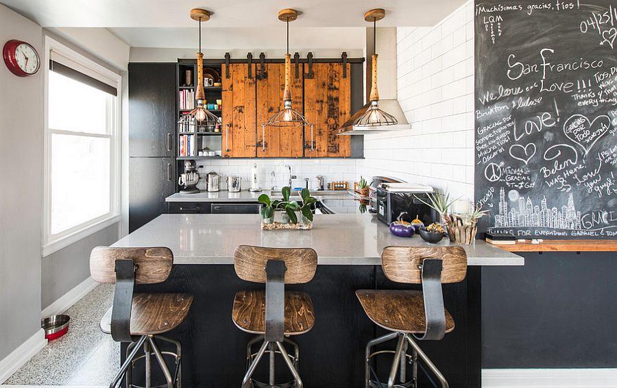 Кухня в индустриальном стиле - Фото 40