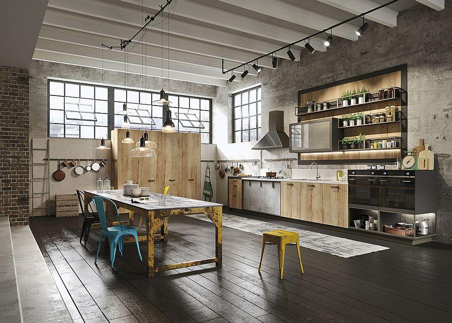 Кухня в индустриальном стиле - Фото 41