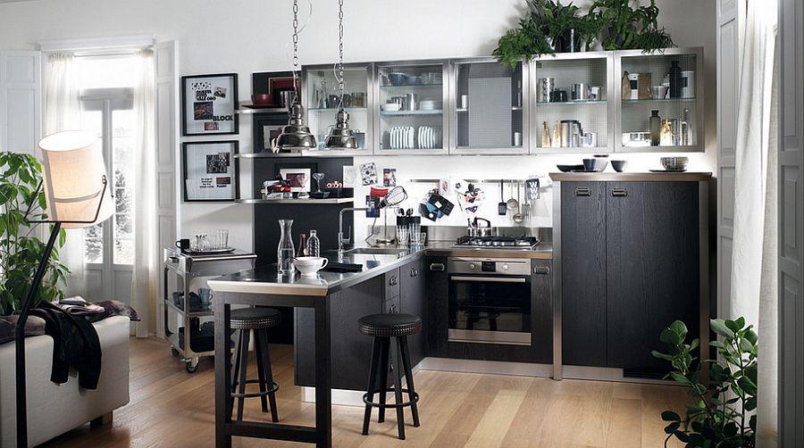 Кухня в индустриальном стиле - Фото 45