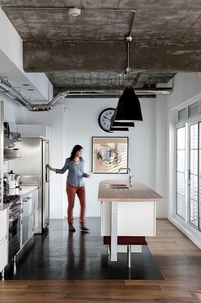 Кухня в индустриальном стиле - Фото 49