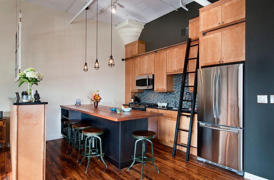 Кухня в индустриальном стиле - Фото 51