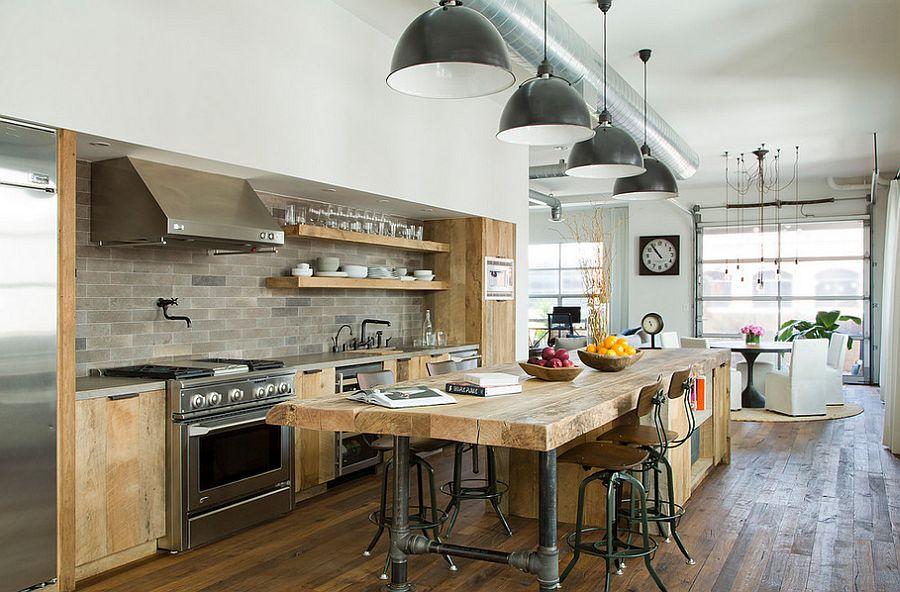Кухня в индустриальном стиле - Фото 52