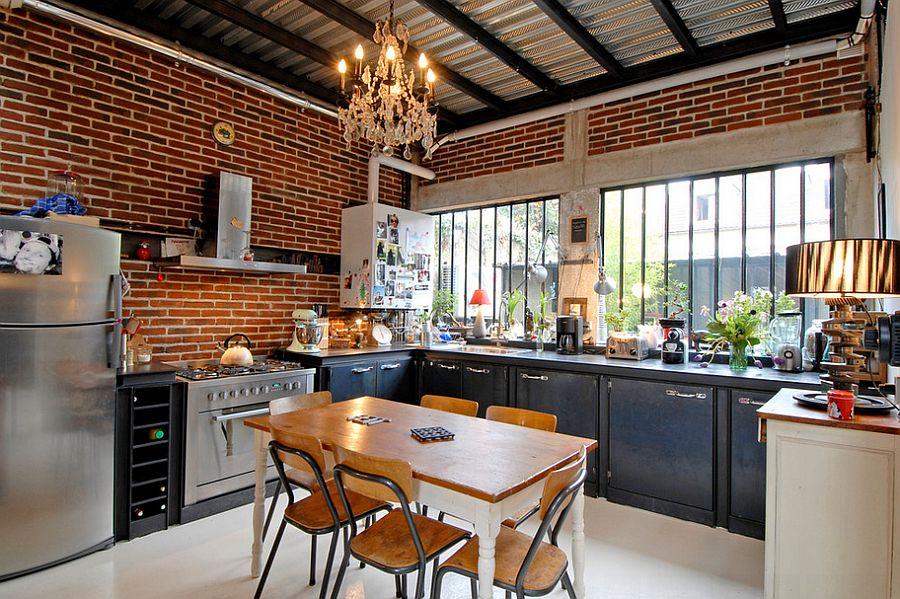 Кухня в индустриальном стиле - Фото 53