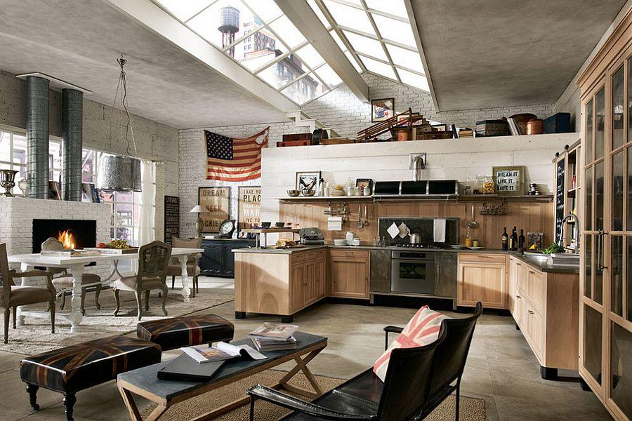 Кухня в индустриальном стиле - Фото 54