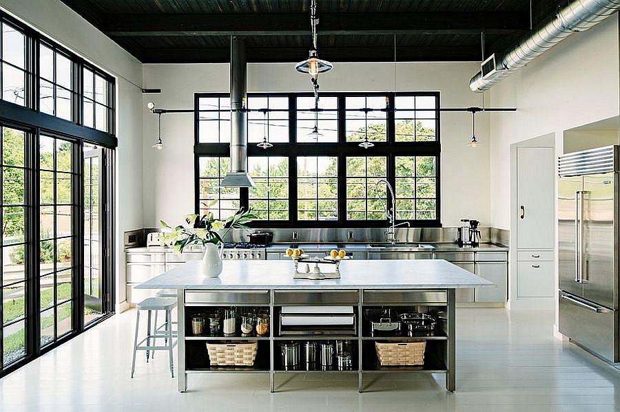 Кухня в индустриальном стиле - Фото 55