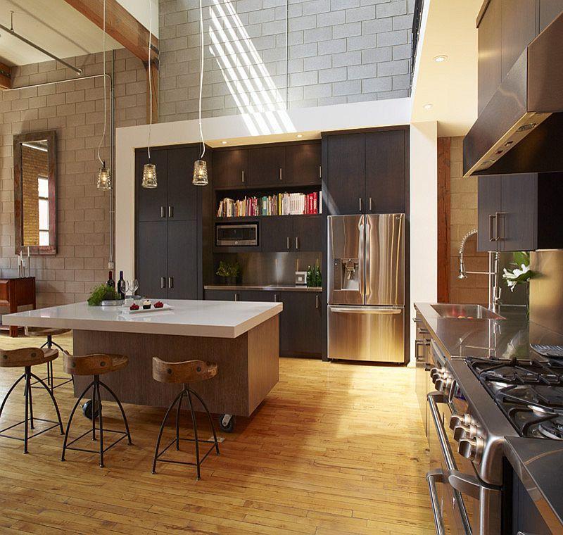 Кухня в индустриальном стиле - Фото 56