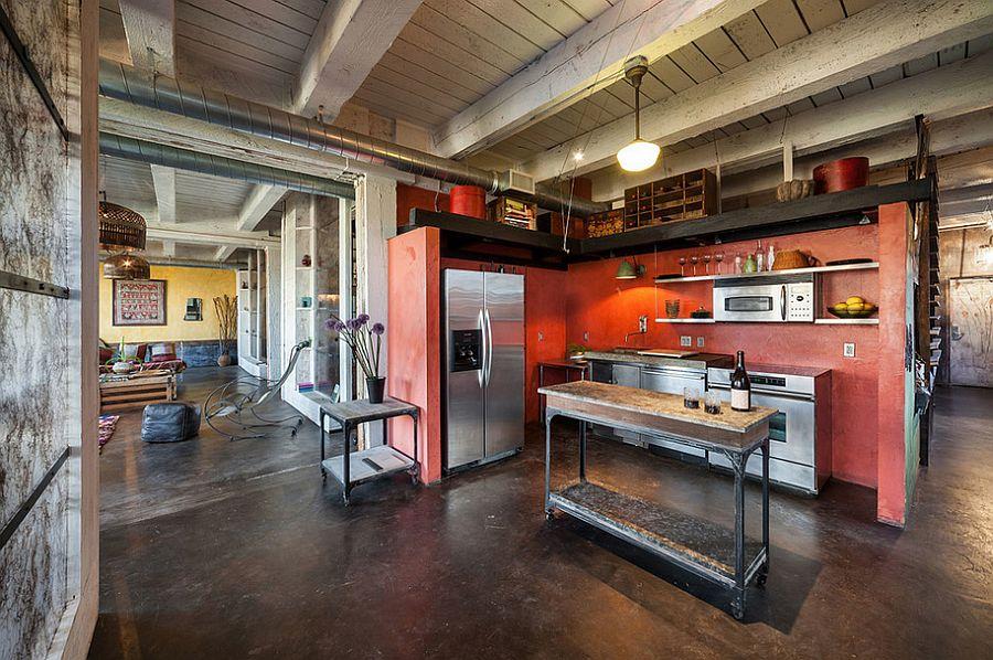 Кухня в индустриальном стиле - Фото 57