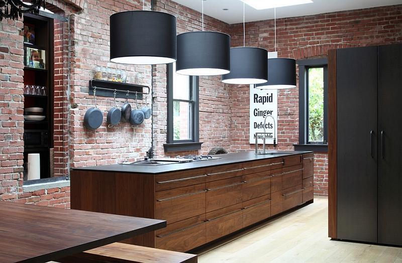 Кухня в индустриальном стиле - Фото 58